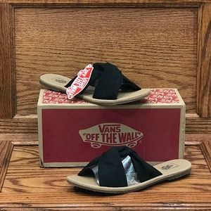 Vans Sandals Ayla Slide Suede Black Era Classic*
